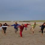 Chineng groep op strand